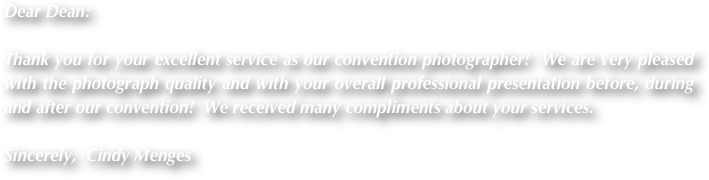 Dear Dean: